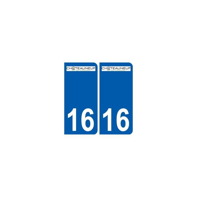 16 ruffec logo ville autocollant plaque immatriculation d partement. Black Bedroom Furniture Sets. Home Design Ideas