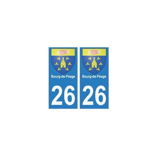 26 bourg de p age autocollant plaque immatriculation blason armoiries stickers d partement. Black Bedroom Furniture Sets. Home Design Ideas