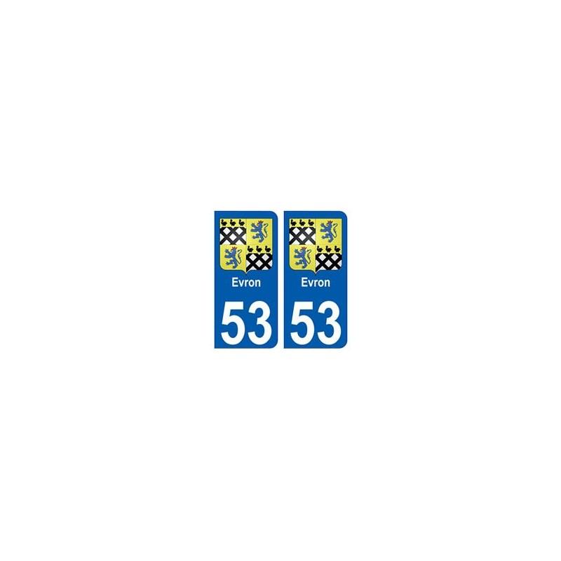 53 evron blason autocollant plaque immatriculation for 3966 haute garonne