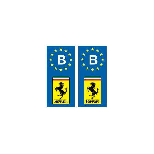 ferrari b voiture autocollant plaque droits ebay. Black Bedroom Furniture Sets. Home Design Ideas