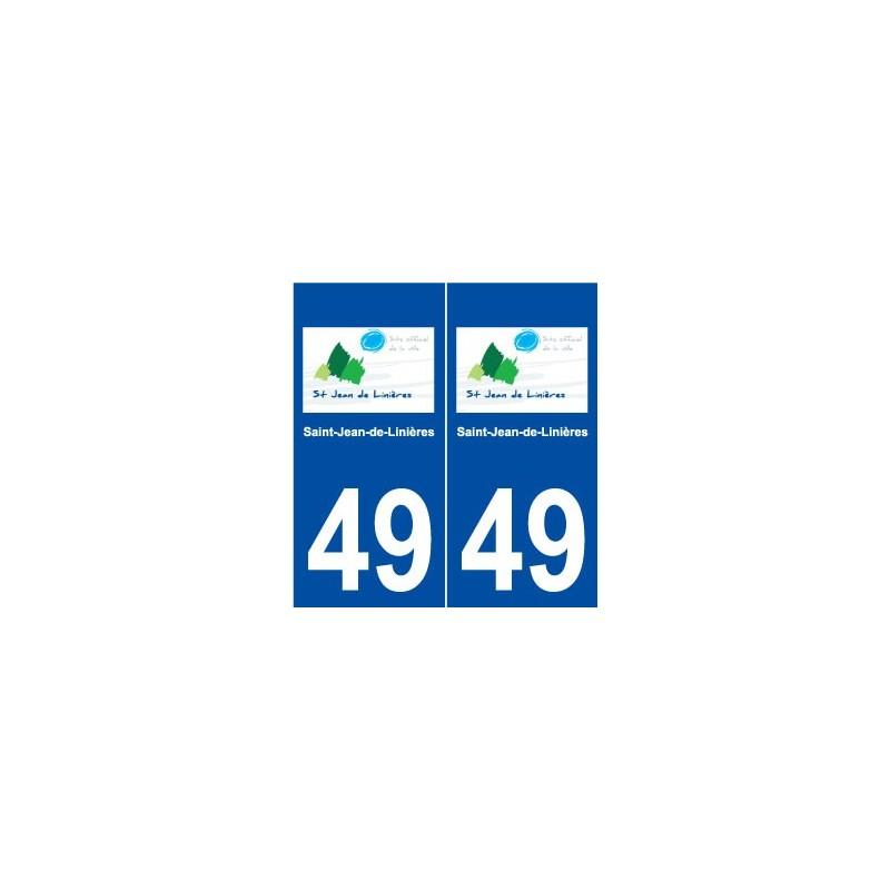49 saint jean de lini res logo autocollant plaque stickers. Black Bedroom Furniture Sets. Home Design Ideas