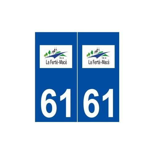 61 la fert mac logo autocollant plaque immatriculation stick for Piscine la ferte