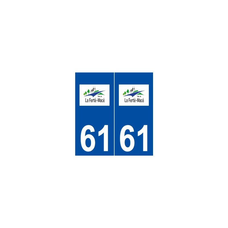 61 la fert mac logo autocollant plaque immatriculation stick for Piscine la ferte mace