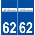 62 Bruay-la-Buissière logo autocollant plaque stickers ville