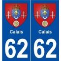 62 Calais blason autocollant plaque stickers ville
