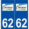 62 Coulogne logo autocollant plaque stickers ville