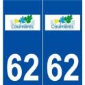 62 Courrières logo autocollant plaque stickers ville