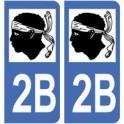 2B Corse autocollant plaque