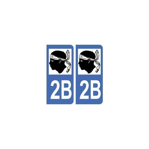 2B Corse du Sud autocollant plaque