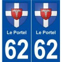 62 Le Portel blason autocollant plaque stickers ville