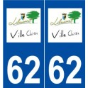 62 Libercourt logo autocollant plaque stickers ville