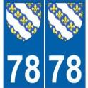78 Yvelines autocollant plaque blason armoiries stickers département
