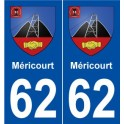62 Méricourt coat of arms sticker plate stickers city