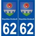 62 Noyelles-Godault coat of arms sticker plate stickers city