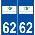 62 Noyelles-Godault logo autocollant plaque stickers ville