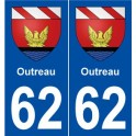 62 Outreau blason autocollant plaque stickers ville