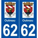 62 Outreau logo sticker plate stickers city