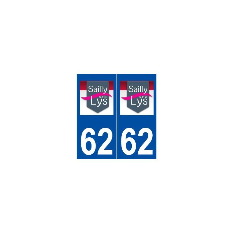 62 sailly sur la lys logo autocollant plaque. Black Bedroom Furniture Sets. Home Design Ideas