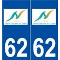 62 Saint-Nicolas logo autocollant plaque stickers ville