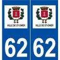 62 Saint-Omer logo autocollant plaque stickers ville
