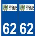 62 Vendin-le-Vieil logo sticker plate stickers city