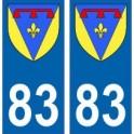 83 Var autocollant plaque