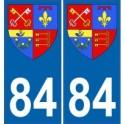 84 Vaucluse autocollant plaque blason armoiries stickers département