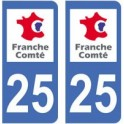 25 Doubs sticker plate