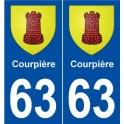 63 Courpière logo autocollant plaque stickers ville