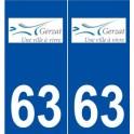 63 Gerzat logo sticker plate stickers city