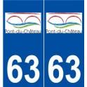 63 Pont-du-Chateau logo sticker plate stickers city