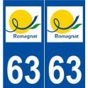 63 Romagnat logo sticker plate stickers city