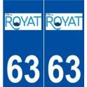 63 Royat logo autocollant plaque stickers ville