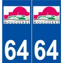64 Mouguerre coat of arms sticker plate stickers city