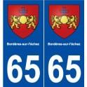 65 Bordères-sur-l'échez blason autocollant plaque stickers ville