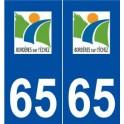 65 Bordères-sur-l'échez logo autocollant plaque stickers ville