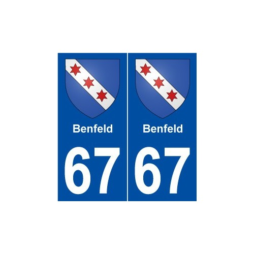 67 Benfeld blason autocollant plaque stickers ville