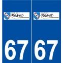 67 Benfeld logo sticker plate stickers city