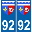 92 Hauts de Seine autocollant plaque blason armoiries stickers département