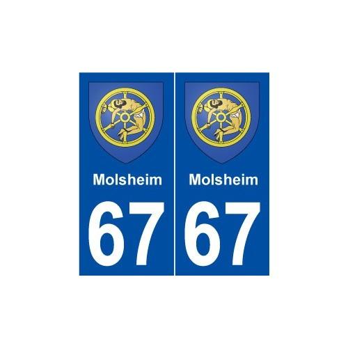 67 molsheim blason autocollant plaque immatriculation. Black Bedroom Furniture Sets. Home Design Ideas
