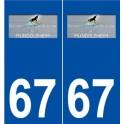 67 Mundolsheim logo sticker plate stickers city