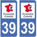 39 Jura autocollant plaque