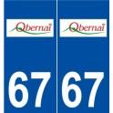 67 Obernai logo autocollant plaque stickers ville