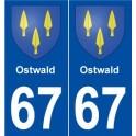 67 Ostwald blason autocollant plaque stickers ville