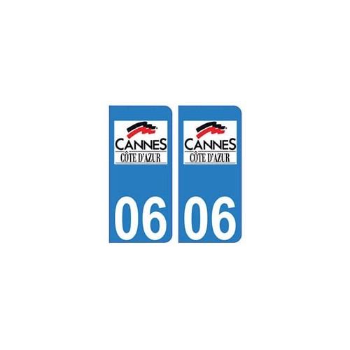 06 cannes logo autocollant plaque immatriculation stickers ville. Black Bedroom Furniture Sets. Home Design Ideas