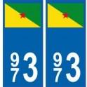 973 Guyane autocollant plaque blason armoiries stickers département