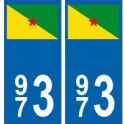 973 Guyane autocollant plaque blason armoiries stickers département