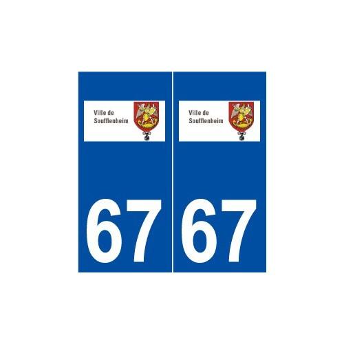 67 Soufflenheim logo autocollant plaque stickers ville