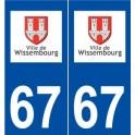 67 Wissembourg logo autocollant plaque stickers ville