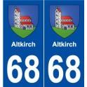 68 Altkirch blason autocollant plaque stickers ville